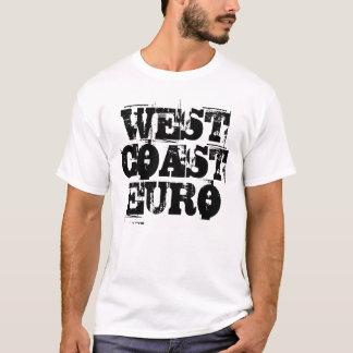 T-shirt La chemise des hommes - euro de côte ouest (police
