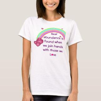 T-shirt la chemise des vraies femmes d'abondance