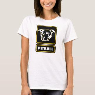 T-shirt La chemise dure de logo de Pitbull sera un coup de