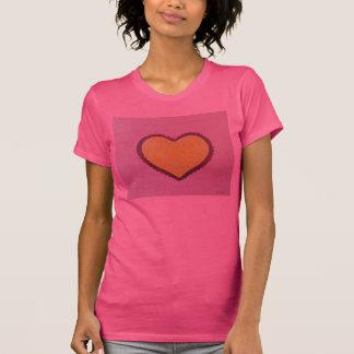 T-shirt La chemise peinte de coeur