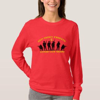 T-shirt La chemise rouge vendredi soutiennent notre longue