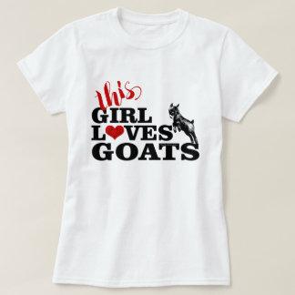 T-shirt La CHÈVRE | cette fille aime le bébé de pygmée de