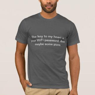 T-shirt La clé à mon coeur est votre mot de passe de WiFi