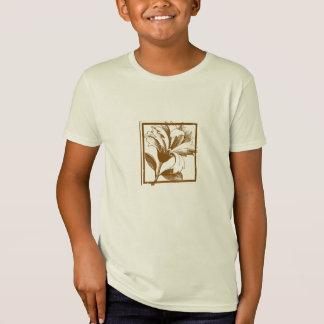 T-Shirt La conception florale badine organique