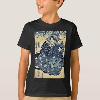 T-shirt La courtisane Hanao d'Ogiya par Utagawa, Kuniyoshi