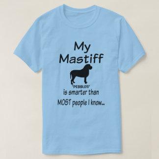 T-shirt La coutume mon chien de mastiff est une citation