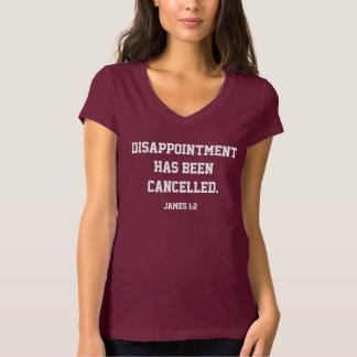T-shirt La déception a été rouge foncé décommandé des