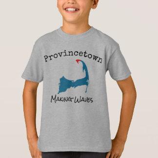 T-shirt La fabrication de masse de Provincetown ondule la