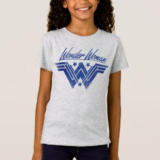 T-Shirt La femme de merveille a empilé le symbole