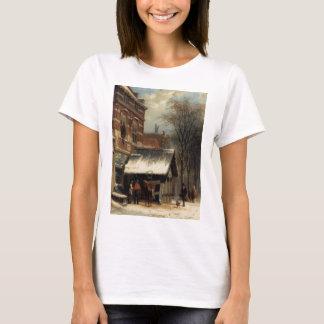 T-shirt La forge de Culemborg pendant l'hiver par Cornelis