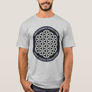 T-shirt La géométrie sacrée : Fleur de la vie - citation