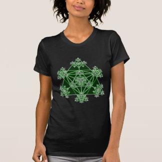 T-shirt La géométrie sacrée : Triangles vertes :