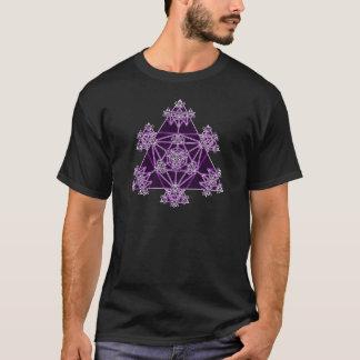 T-shirt La géométrie sacrée : Triangles violettes :