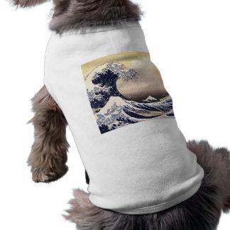 T-shirt La grande vague outre de l'art japonais vintage de