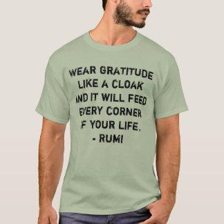 T-shirt La gratitude d'usage aiment une pièce en t