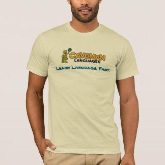 T-shirt la homme des cavernes-couleur, apprennent la