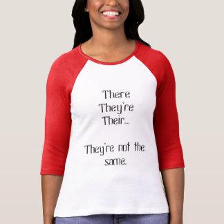 T-shirt Là, ils sont, leur… Chemise de grammaire