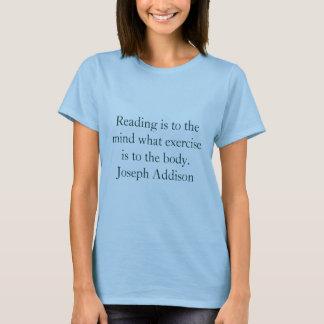 T-shirt La lecture est à l'esprit quel exercice est au…