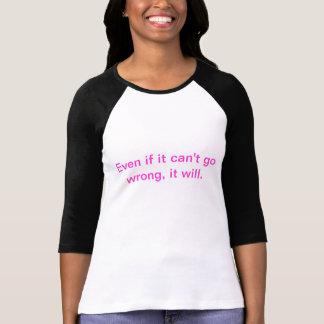 T-shirt La loi de Murphy révisée