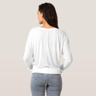 T-shirt La longue douille des femmes outre de l'épaule