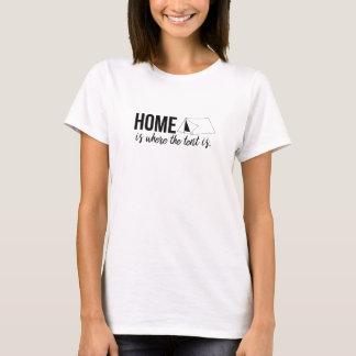 T-shirt La maison est où la tente est la chemise des