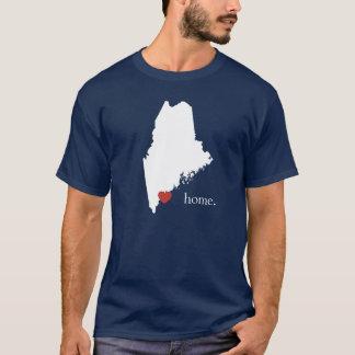 T-shirt La maison est où le coeur est - le Maine