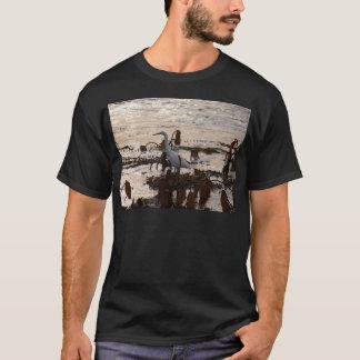 T-shirt La marée met le héron blanc