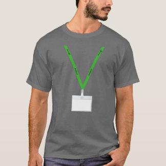 T-shirt La matière verte de lanières écrivent votre nom