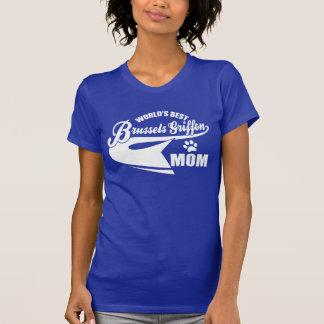 T-shirt La meilleure maman de griffon de Bruxelles du
