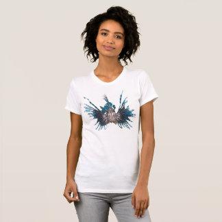 T-shirt La Monde - V de la femme de Lionfish