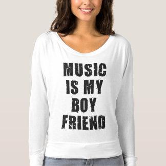 T-shirt La musique est ma chemise d'ami