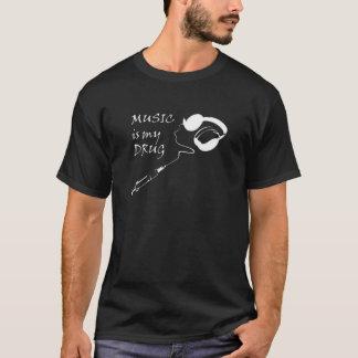 T-shirt La musique est ma drogue
