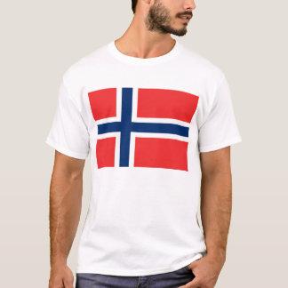 T-shirt La Norvège, drapeau