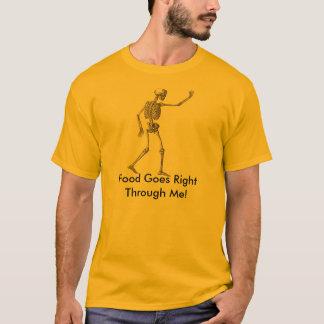 T-shirt La nourriture squelettique de citations passe par