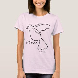 T-shirt La paix avec les années 1960 vintages de colombe
