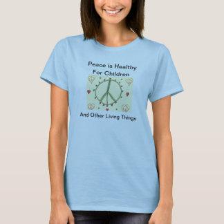 T-shirt La paix est saine pour des enfants…