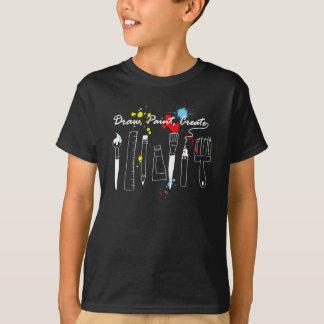 T-shirt La peinture d'aspiration créent la couleur