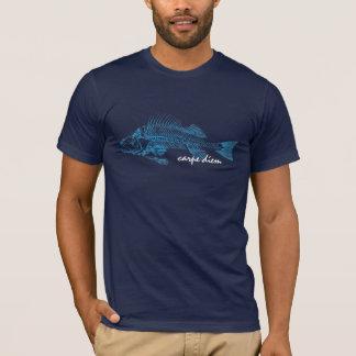 T-shirt La perche, image squelettique de tatouage-style de