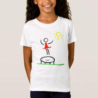 T-Shirt La petite fille ont l'amusement