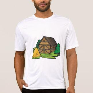 T-shirt La pièce en t active des hommes de grange de ferme
