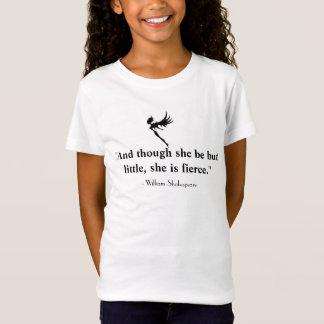 T-Shirt La pièce en t de la petite et féroce fille