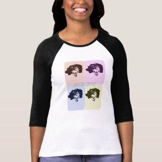 T-shirt La pièce en t de popart de crâne