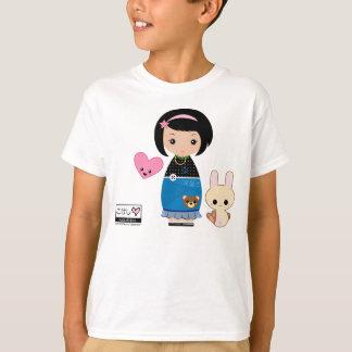 T-shirt La pièce en t des enfants de Kawaii Kokeshi