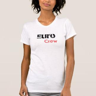 T-shirt La pièce en t des euro femmes d'équipage