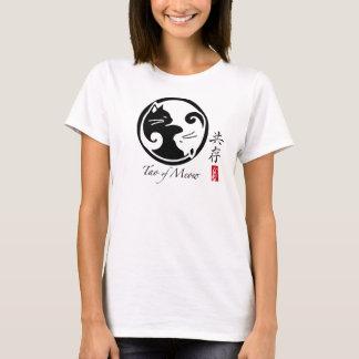 T-shirt La pièce en t des femmes de chats de Yin Yang