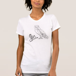 T-shirt La pièce en t des femmes de hibou de grenade