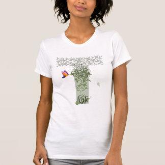 T-shirt La pièce en t des femmes de pensées de détail