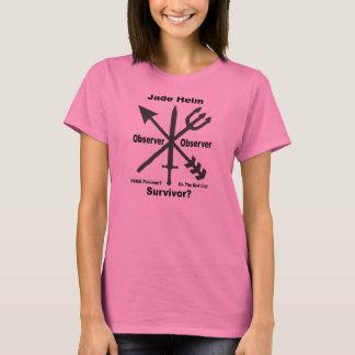 T-shirt La pièce en t des femmes d'observateur de barre de