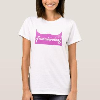 T-shirt La pièce en t des femmes drôles de Femalevolent