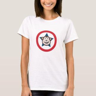T-shirt La pièce en t des femmes graphiques de singe